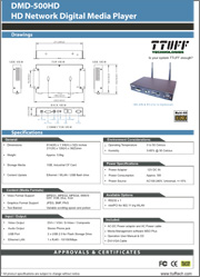 Download DMD-500HD product sheet